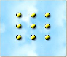 Les 9 points - Relier 9 points avec 3 traits ...