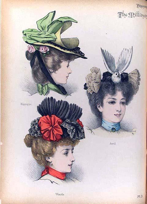 chapeau à plumes et à fleurs